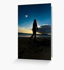 Slowmotion Sunset Greeting Card