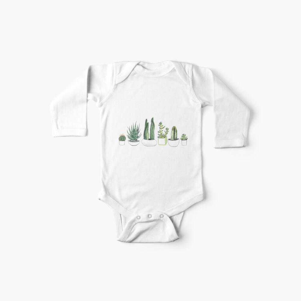 Watercolour cacti & succulents Baby One-Piece