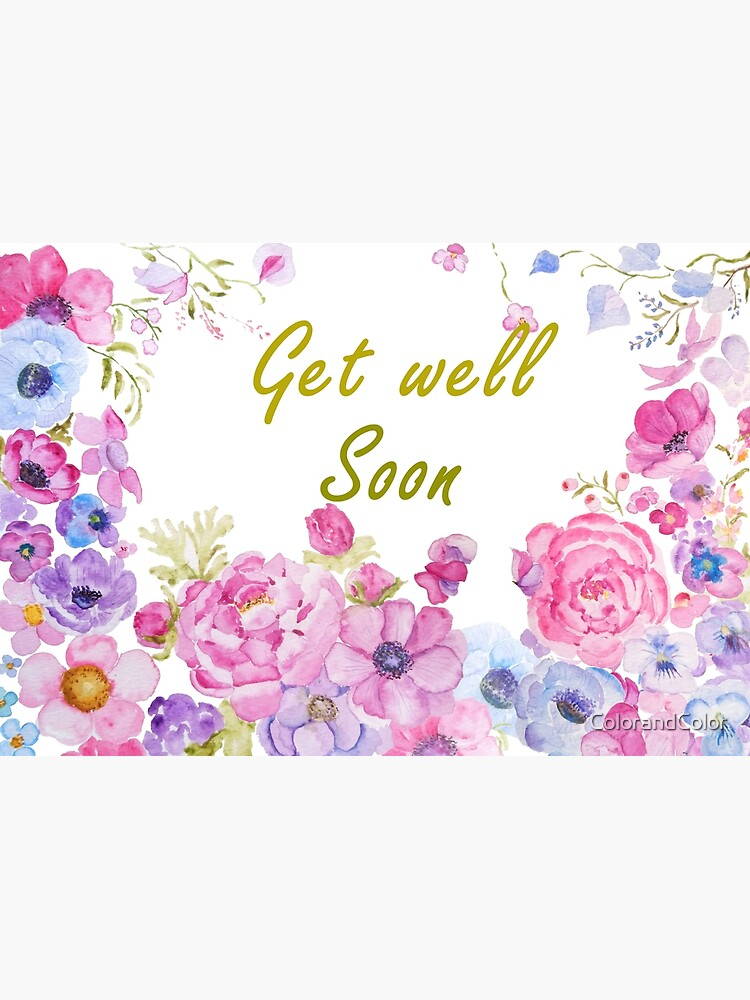 get well soon card beautiful flowers cards
