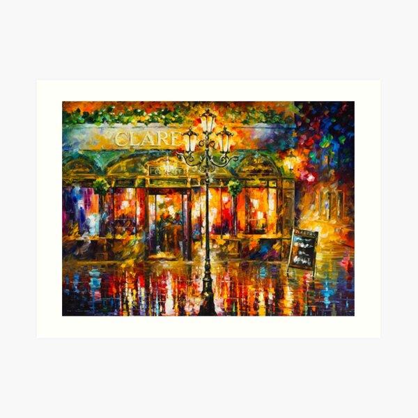 Misty Cafe - Leonid Afremov Art Print