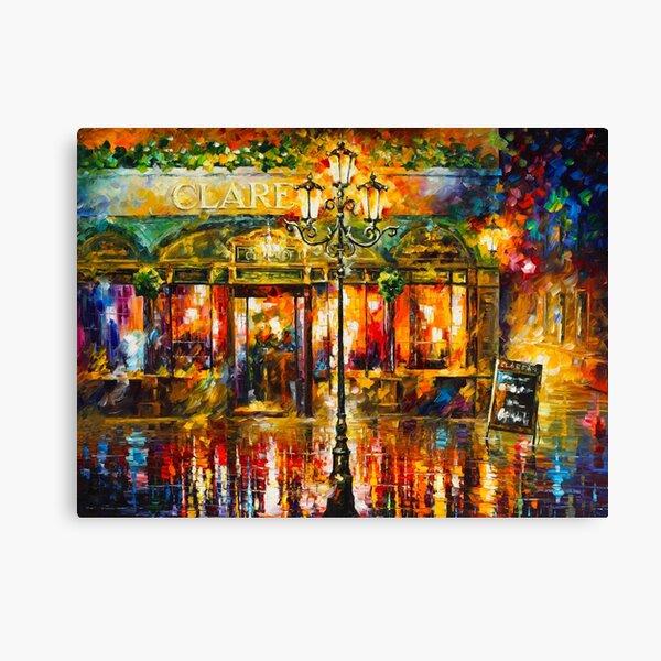 Misty Cafe - Leonid Afremov Canvas Print