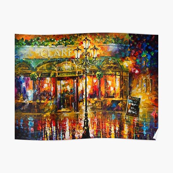 Misty Cafe - Leonid Afremov Poster