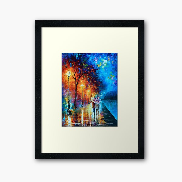 Love by The Lake - Leonid Afremov Framed Art Print