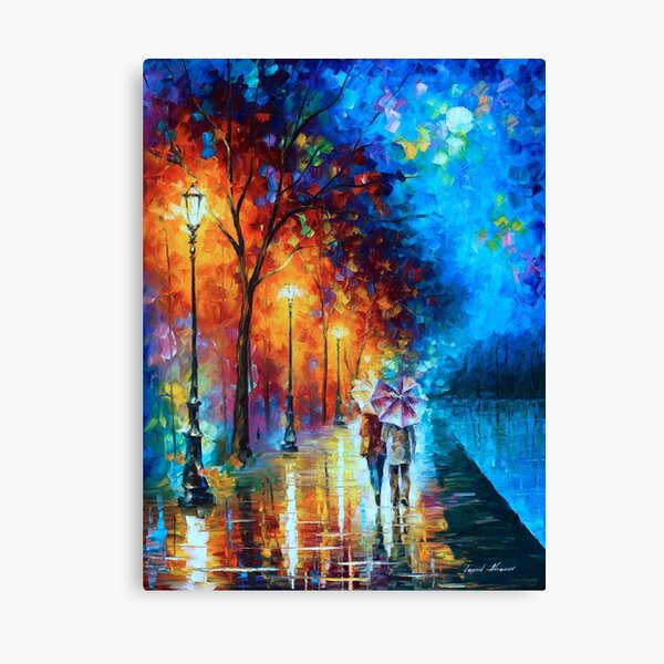 Love by The Lake - Leonid Afremov Canvas Print
