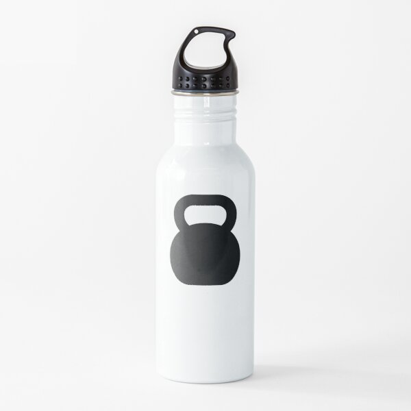 Kettlebell Exercise and Fitness, Sticker Look Water Bottle
