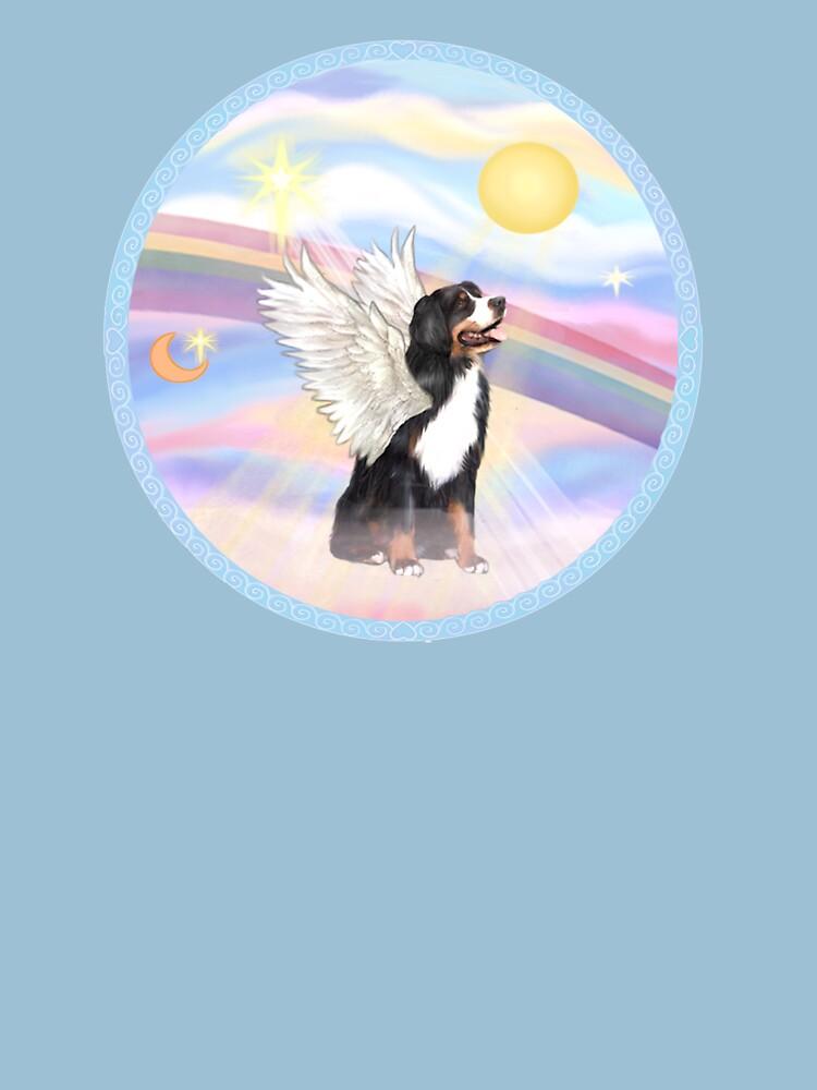 Bernese Mountain Dog in Heavens Clouds by JeanBFitzgerald