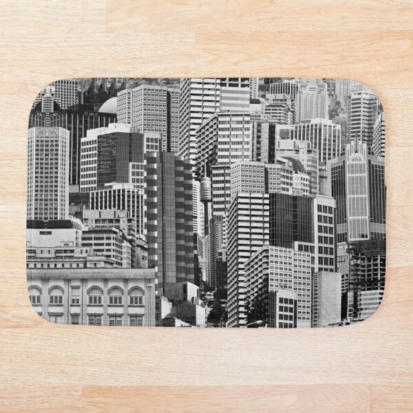 Metropolis (pre-digital photomontage) Bath Mat