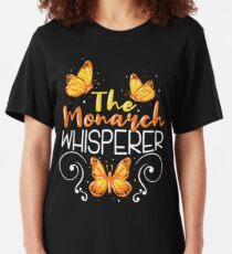 Butterfly Monarch Catcher Entomology Gift Slim Fit T-Shirt