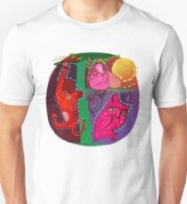 doodle animals hanging out Unisex T-Shirt