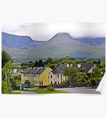 Sneem town kerry Eire Poster