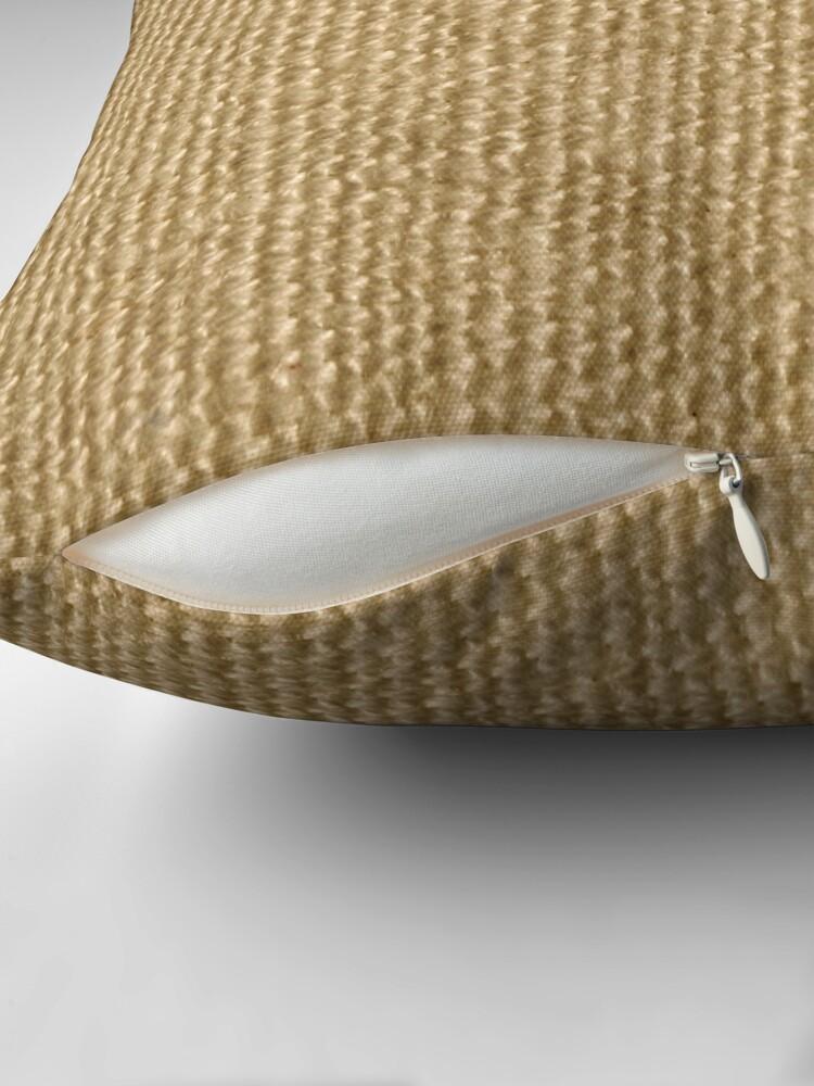 Alternate view of Jute fibers Throw Pillow