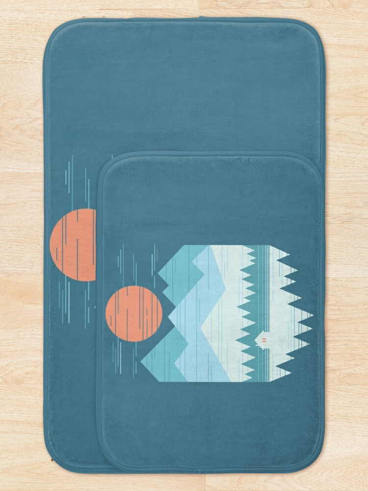 Alternate view of Cabin In The Snow Bath Mat