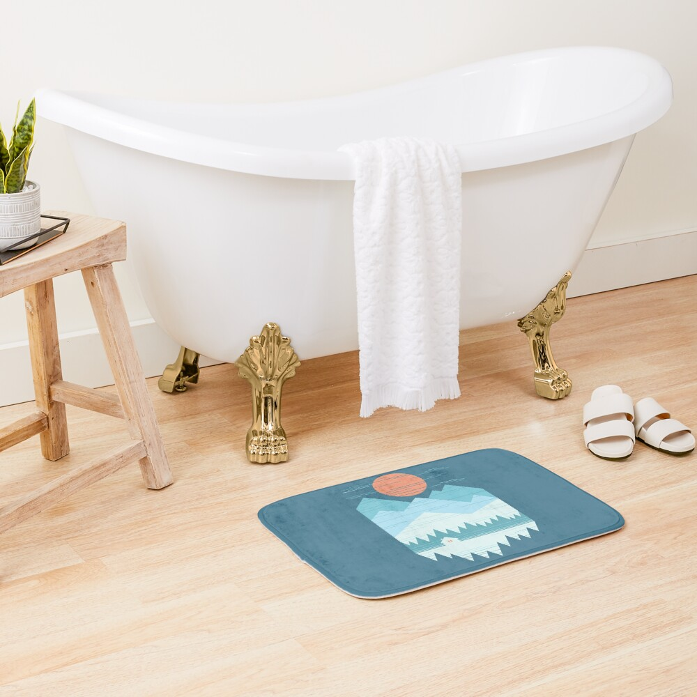 Cabin In The Snow Bath Mat