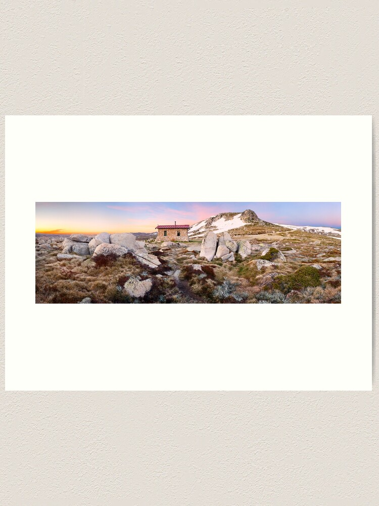 Alternate view of Seamans Hut, Mt Kosciuszko, New South Wales, Australia Art Print
