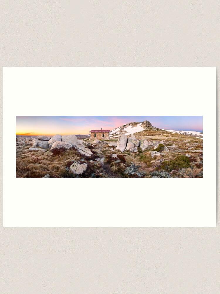 Alternate view of Seamans Hut, Mt Kosciuszko, New South Wales, Australia Art Print