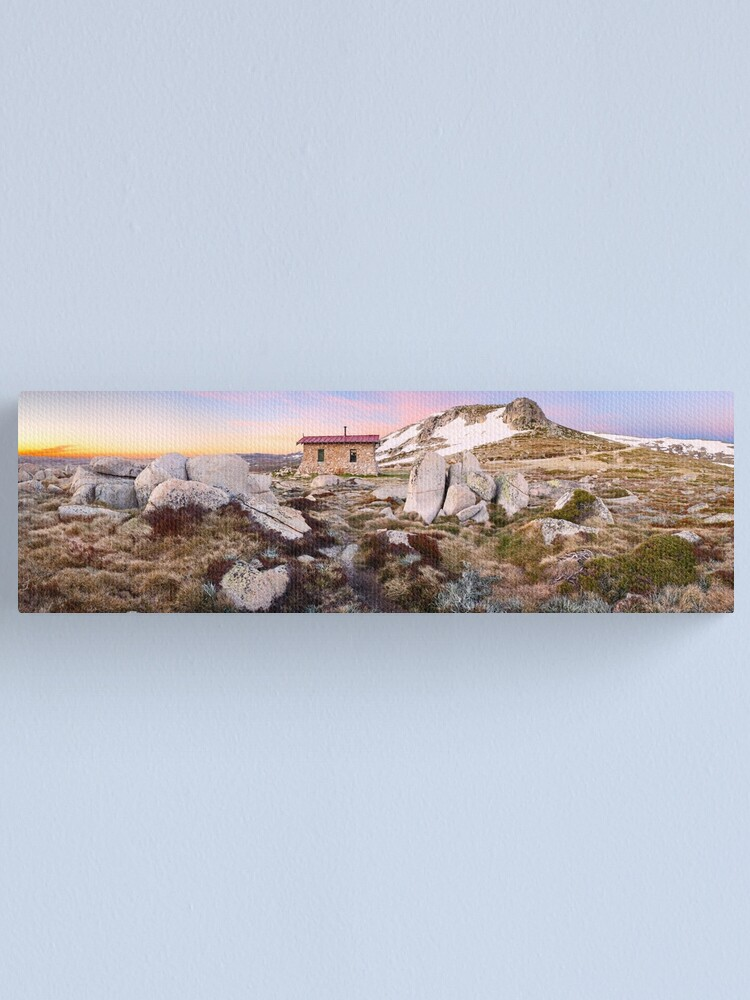Alternate view of Seamans Hut, Mt Kosciuszko, New South Wales, Australia Canvas Print