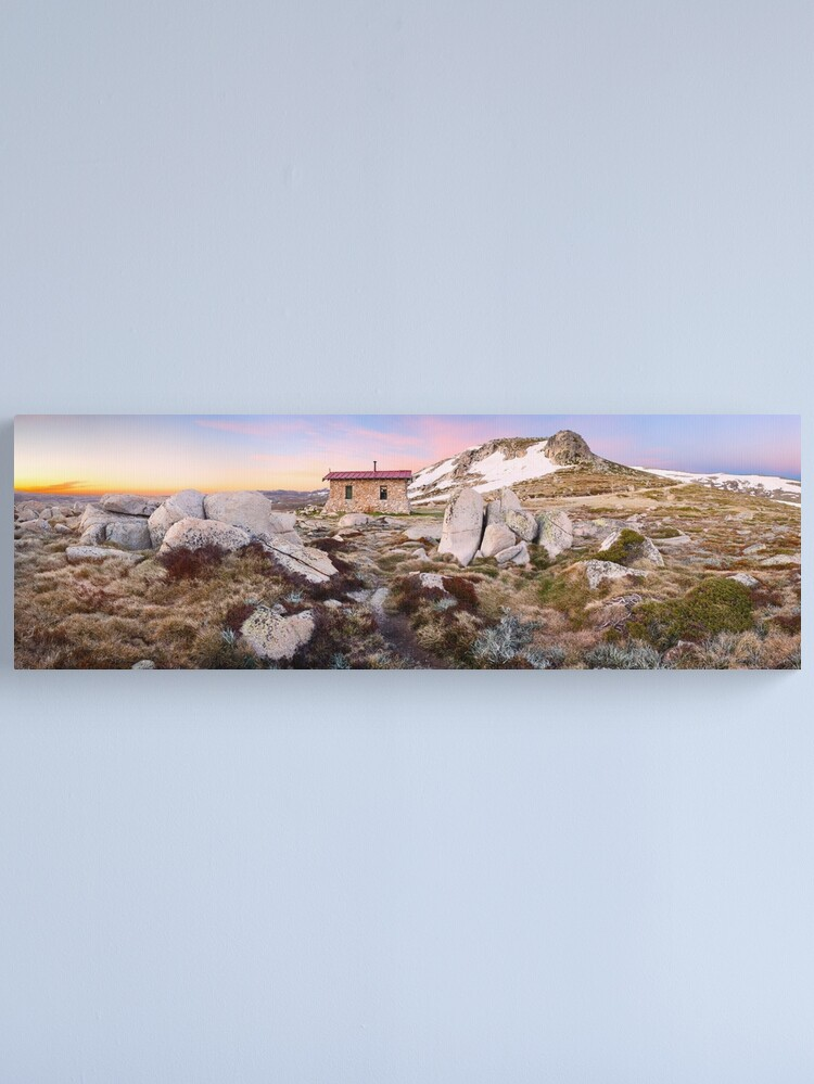 Alternate view of Seamans Hut, Mt Kosciuszko, New South Wales, Australia Canvas Print