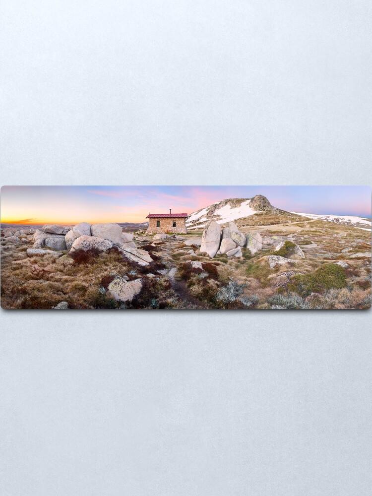 Alternate view of Seamans Hut, Mt Kosciuszko, New South Wales, Australia Metal Print