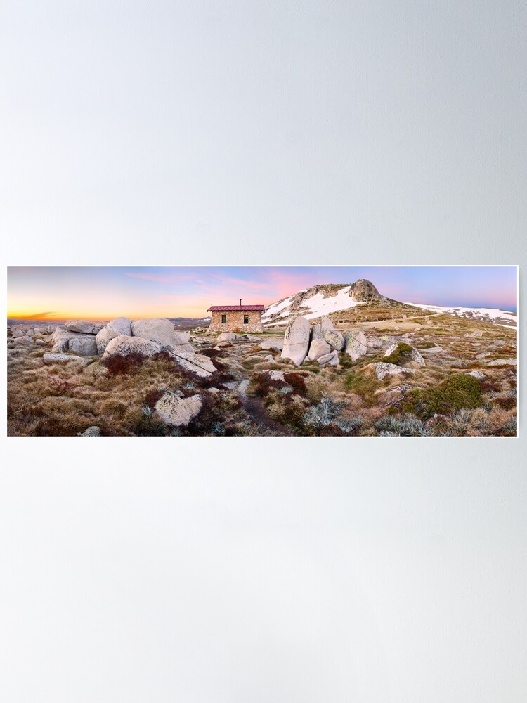 Alternate view of Seamans Hut, Mt Kosciuszko, New South Wales, Australia Poster