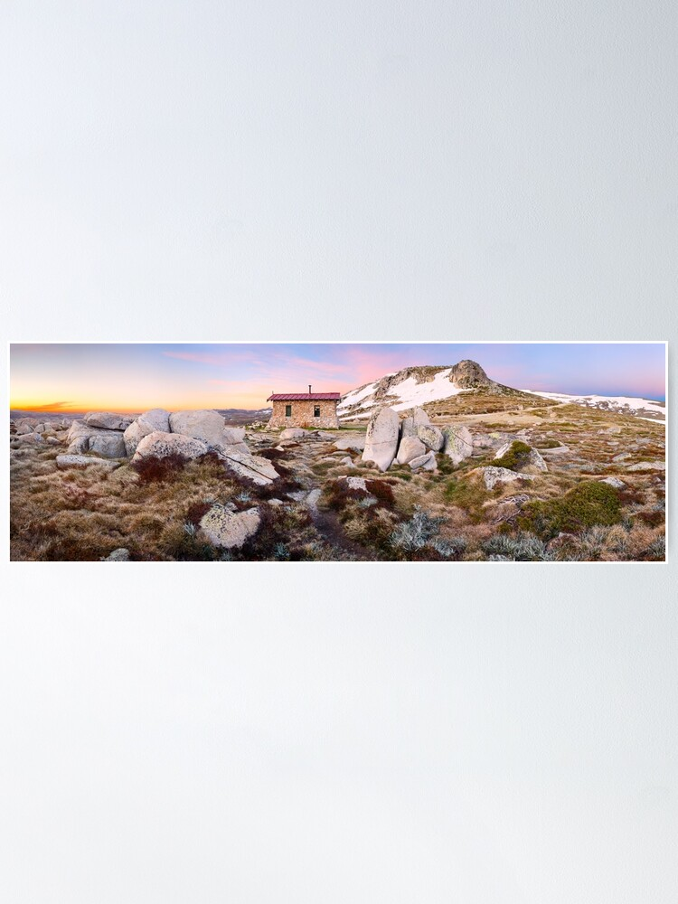 Alternate view of Seamans Hut, Mt Kosciuszko, New South Wales, Australia Poster