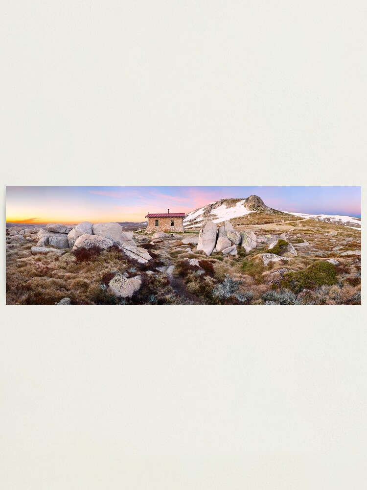 Alternate view of Seamans Hut, Mt Kosciuszko, New South Wales, Australia Photographic Print