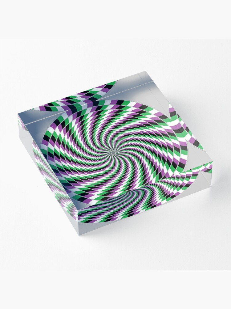 Alternate view of #Graphic #Design, Optical #Art: Moving Pattern Illusion - #OpArt  Acrylic Block