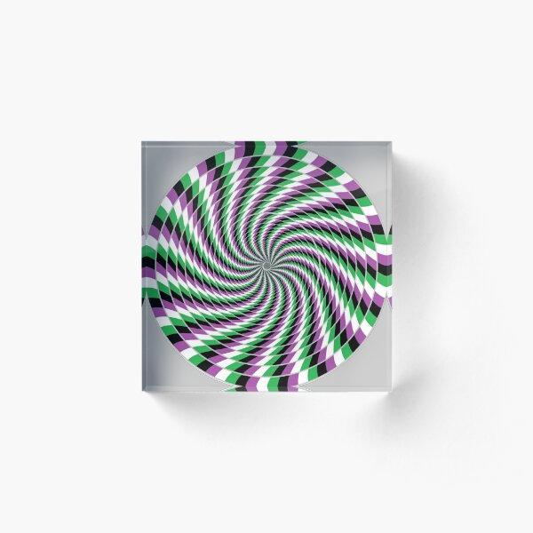 #Graphic #Design, Optical #Art: Moving Pattern Illusion - #OpArt  Acrylic Block