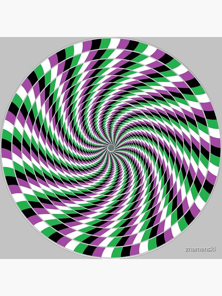 #Graphic #Design, Optical #Art: Moving Pattern Illusion - #OpArt  by znamenski