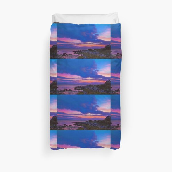 Ireland. Galway. Galway Bay. Sunset. Duvet Cover