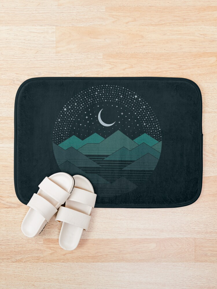 Alternate view of Between The Mountains And The Stars Bath Mat