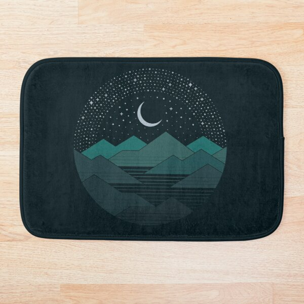 Between The Mountains And The Stars Bath Mat