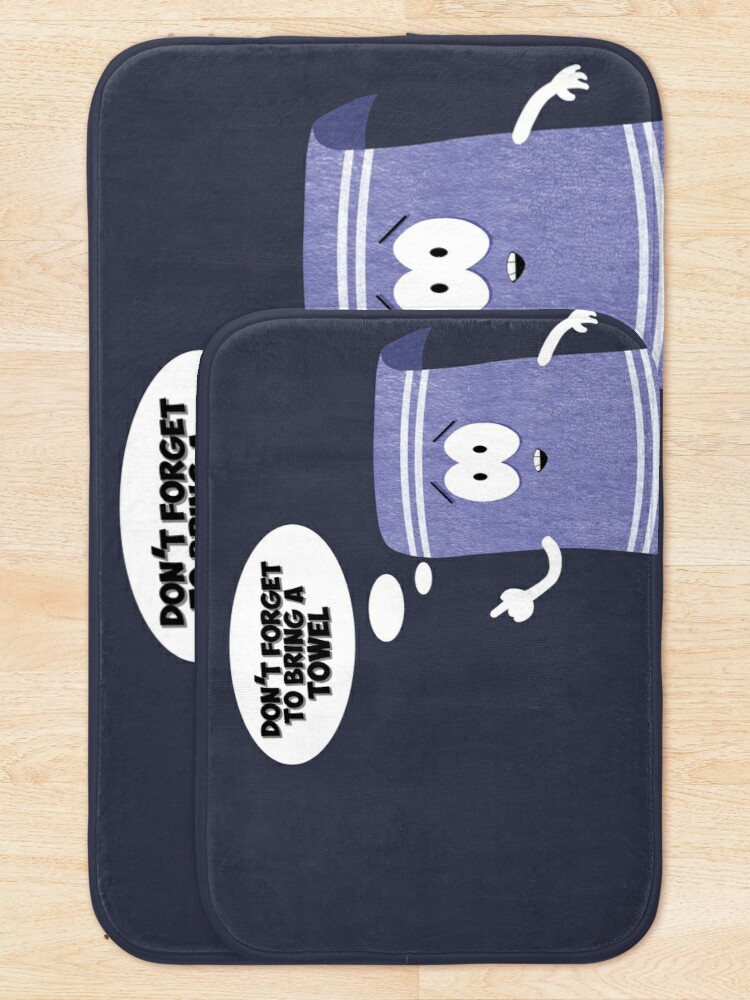 Alternate view of Don't forget about towelie Bath Mat