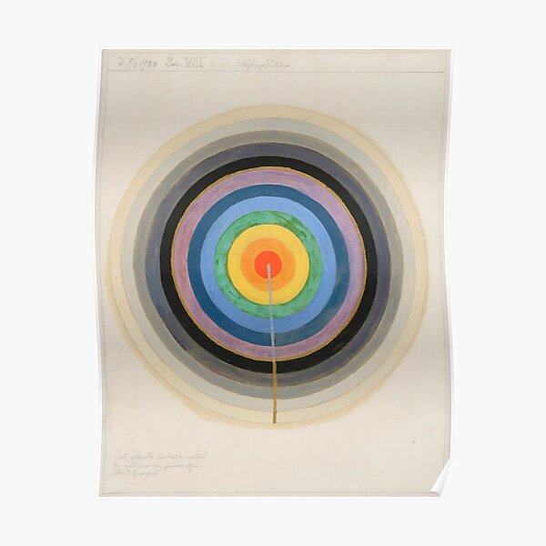 "Hilma af Klint ""Series VIII. Picture of the Starting Point. March 1920"" Poster"