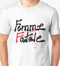 Femme Fatale Schriftzug Slim Fit T-Shirt