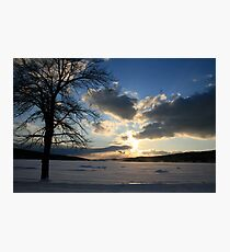 Sunset in Snow Photographic Print