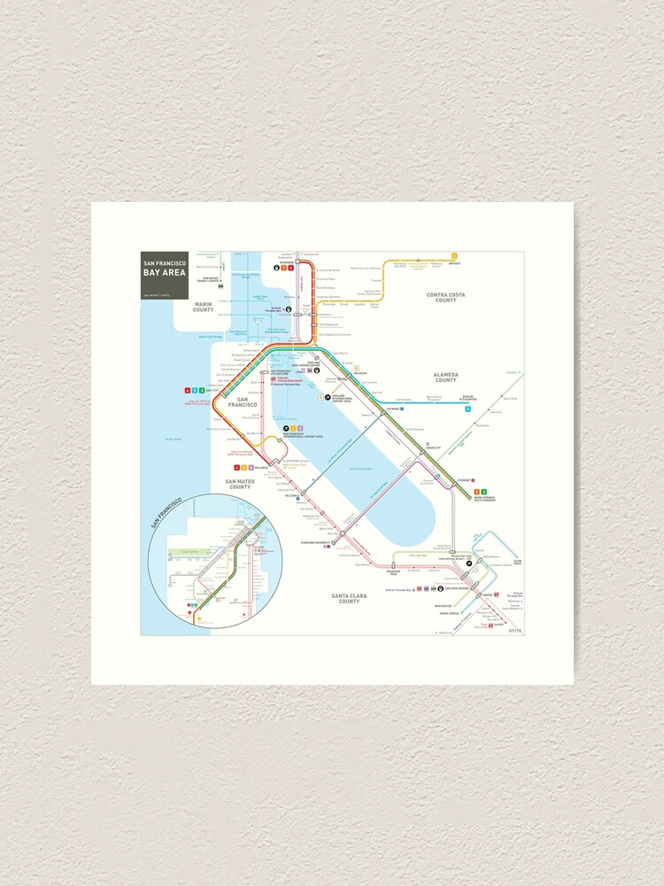 San Francisco Bay Area Transit Map Art Print By Jugcerovic Redbubble Map illustration of the city of marseille. redbubble