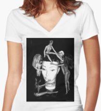All Hail  Women's Fitted V-Neck T-Shirt