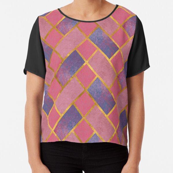 Pink Tiles Chiffon Top