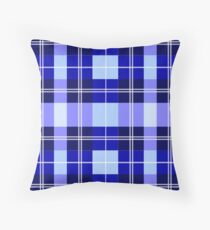 Blue Plaid Floor Pillow