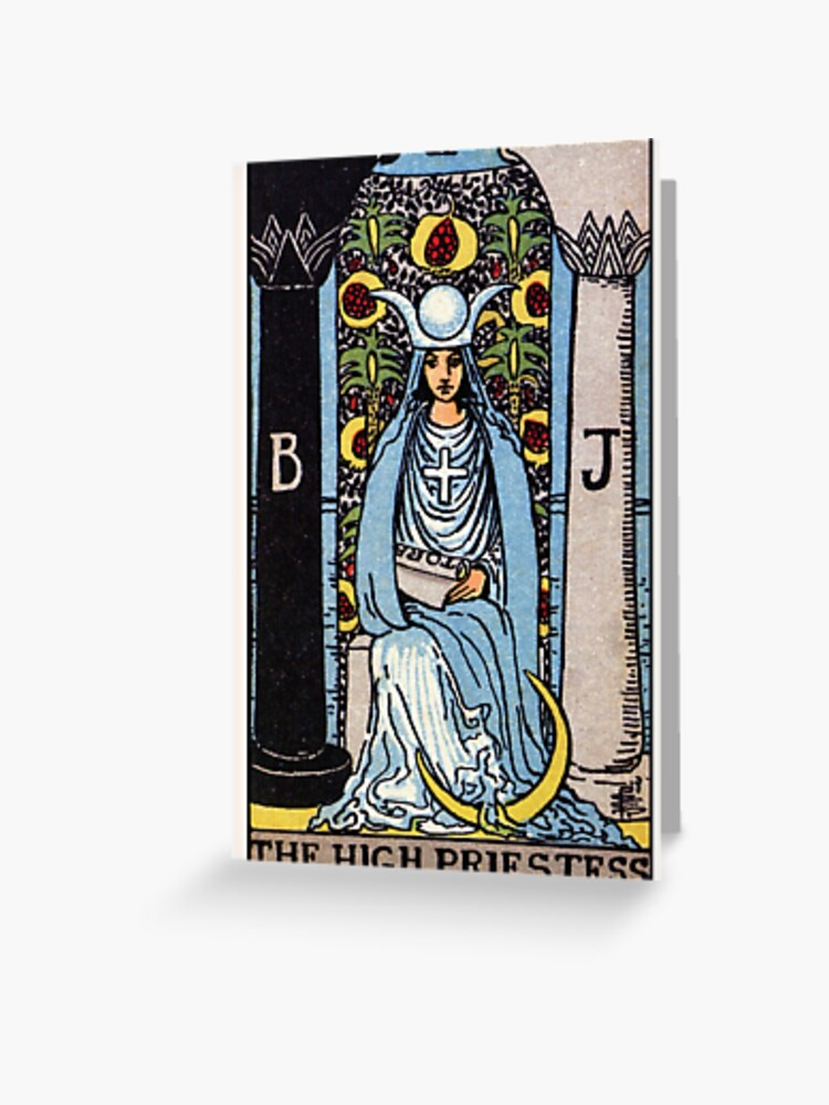 Blank Card Tarot The Star Major Aracana Illustration Vintage Art Greeting Card with Envelope