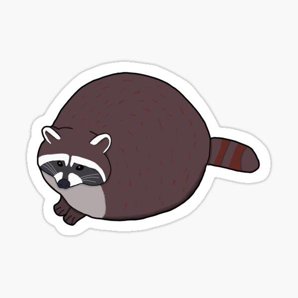Round Raccoon Sticker Sticker