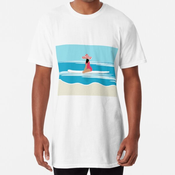 Solo surfing woman Long T-Shirt