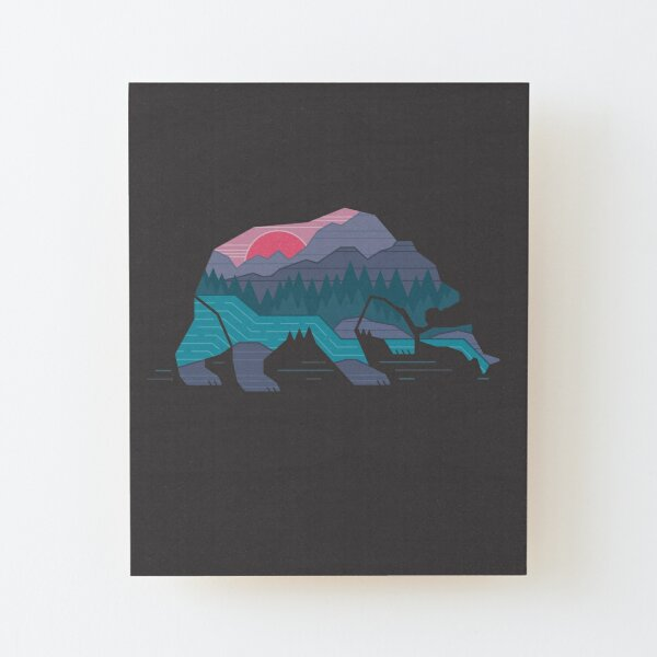 Bear Country Wood Mounted Print