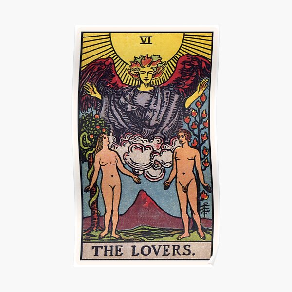 VI. The Lovers Tarot Card Poster