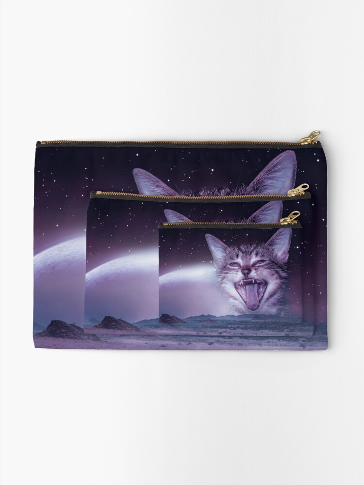 Alternate view of Planet Of The Cats Zipper Pouch