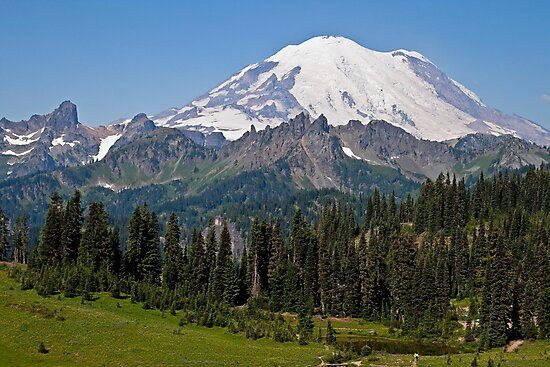 Mt. Rainier from Chinook Pass by Barb White
