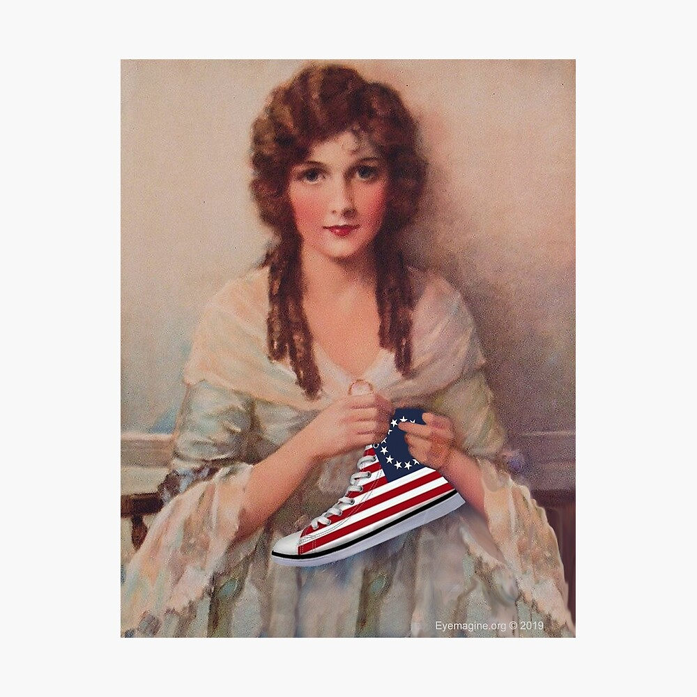 Betsy Ross with Sneaker Photographic Print