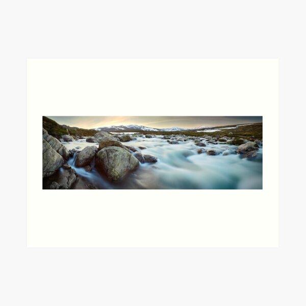 Snowy River Sunset, Mt Kosciuszko, New South Wales, Australia Art Print