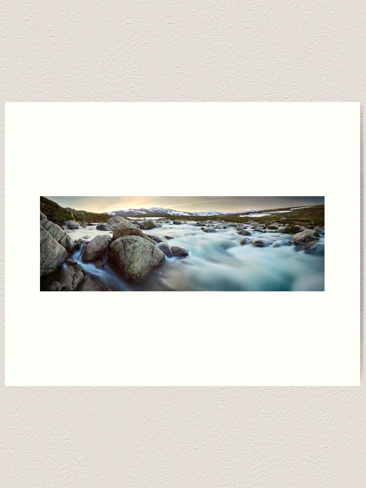 Alternate view of Snowy River Sunset, Mt Kosciuszko, New South Wales, Australia Art Print