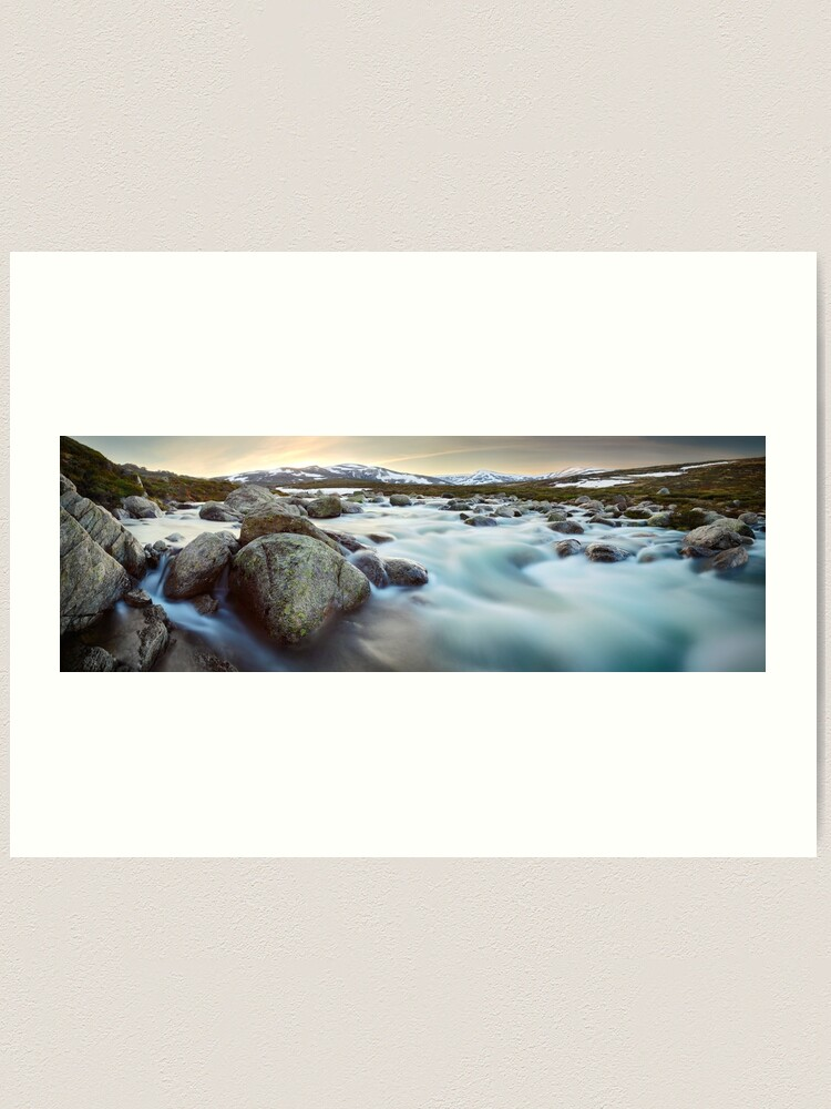 Alternate view of Snowy River Sunset, Mt Kosciuszko, New South Wales, Australia Art Print
